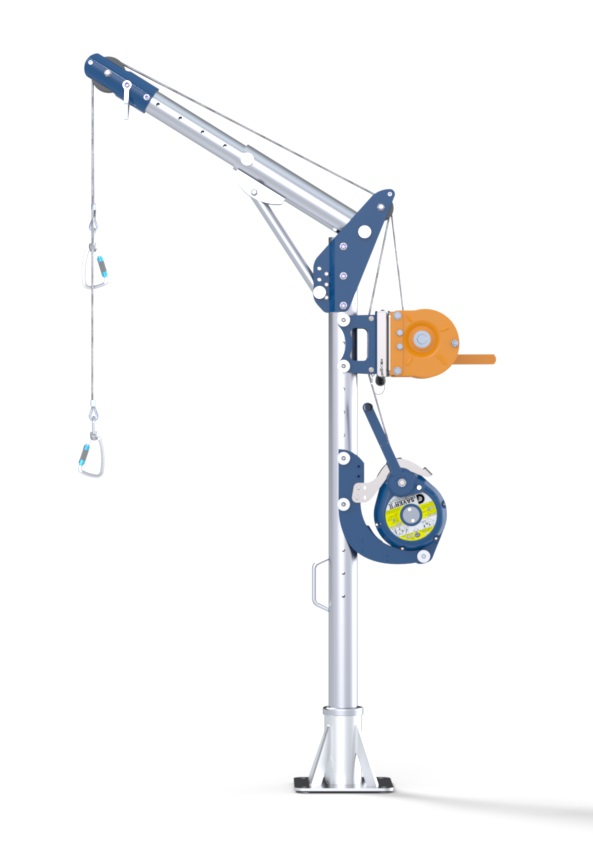 Davit with Winch and Fall Arrester
