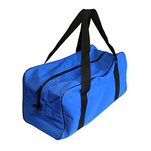 a blue canvas bag